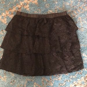 Crazy 8 black tiered skirt size 10-12